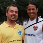 Unser DBFB-Vorstand Michael Palm mit Jorge Gonzales